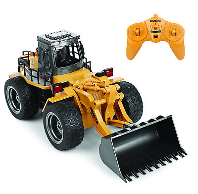 Die Cast RC Bulldozer Tractor 1:18 2.4GHz 6 Channel Remote Control Truck Toy