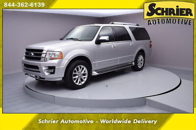 2016 Ford Expedition Limited Sport Utility 4-Door 16 Ford Expedition EL Limited Silver 4WD 8 Passenger Leather Sunroof