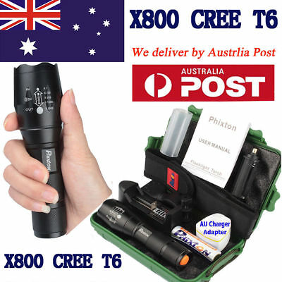 10000lm X800 Shadowhawk Flashlight CREE T6 LED Torch 18650 Rechargeable Battery