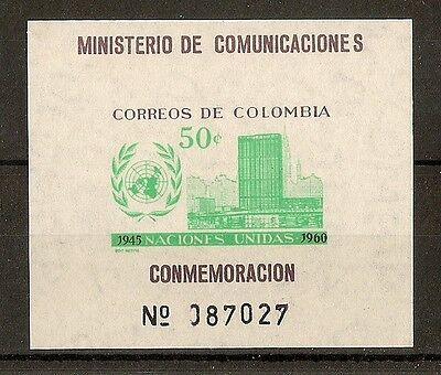 Colombia 1960 UN Day MS1055 MNH