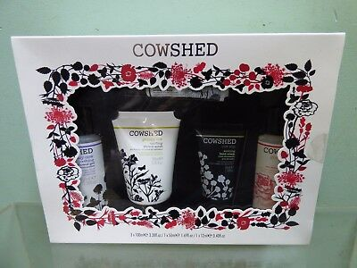 Cowshed Best of Cowshed Gift Set Shower Gel Scrub Lotion Hand Cream Lip Balm NEW