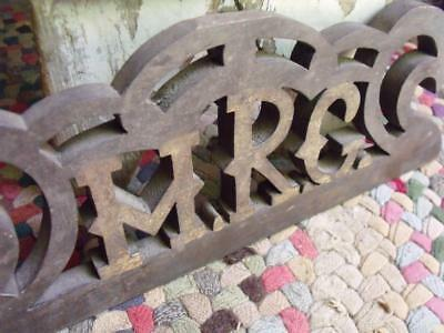 Fancy Antique Wood Pediment With Initials MRG or MRC HRG or HRC