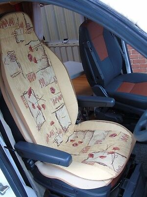 To Fit Peugeot Boxer Motorhome, Seat Covers, Sample 24
