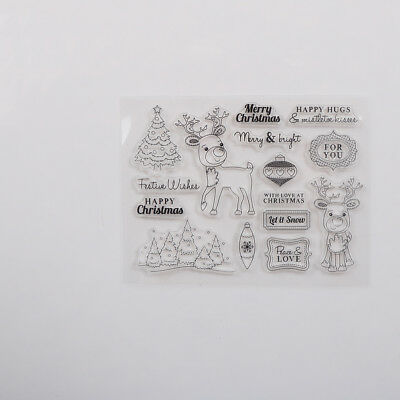 Christmas Deer Transparent Silicone Stamp for DIY Scrapbooking Photo AlbumDecorD