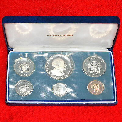 1970 Jamaica 6-Coin Proof Uncirculated Mint Set Franklin Mint Issue All Sealed