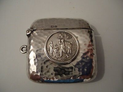 Antique Silver 'Golfers' Golf Vesta Case. CHESTER 1903.