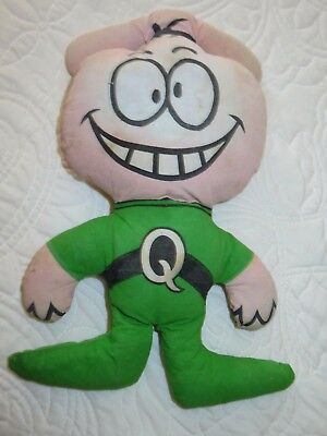 """Vintage 1970's QUISP Spaceman Mascot 11"""" Printed Cloth Stuffed Toy"""