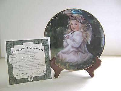 Heaven's Little Sweethearts AN ANGEL'S LOVE Plate #2 BUNNY BY Donna Brooks