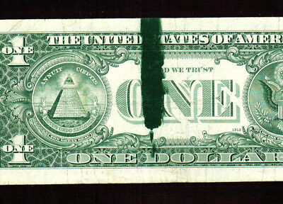 ** ERROR ** INK SMEAR ** $1 1969A Federal Reserve Note ** MORE CURRENCY FOR SALE