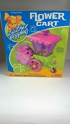 Zhu Zhu Puppies Flower Cart & Accessories 2010 Cepia Ages 4 & Up Rare