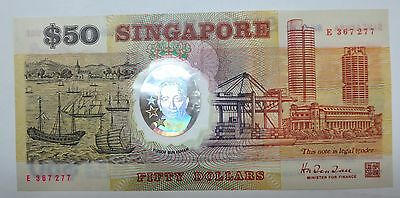 Singapore $50 polymer Commemorative banknote 1990, Fifty Dollars note, EF / XF