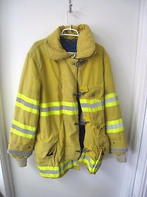 Cairns Explorer Firefighter Yellow Jacket Coat Turnout 44x36, Halloween Costume