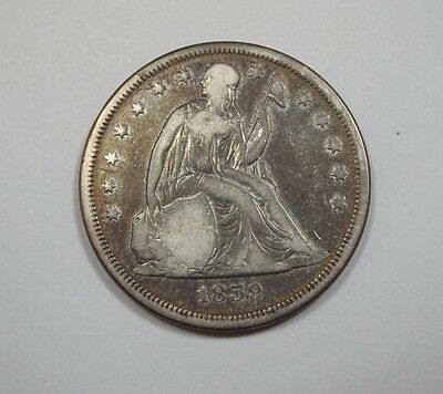1859-O Liberty Seated Dollar VERY GOOD Silver $