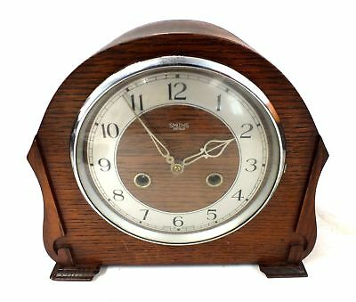 SMITHS Enfield 8 Day Striking Mantle CLOCK With Key & Instructions - F15