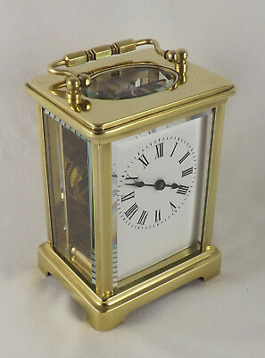 Nice French Brass 8 Day Carriage Clock - Fully Cleaned & Serviced