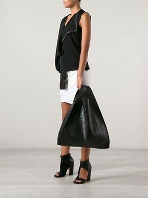 MM6 by MAISON MARTIN MARGIELA Women's Black leather Large Tote Bag