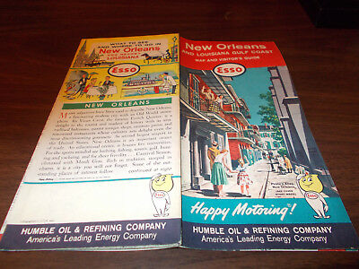 1962 Esso New Orleans Vintage Road Map / Pirate's Alley Cover Art