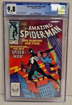 Amazing Spider-Man #252 1984 Key 1st Black Costume CGC 9.8 White Pages CM009