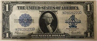 HORSE BLANKET $1 One Dollar Bill Silver Certificate 1923 Currency Note