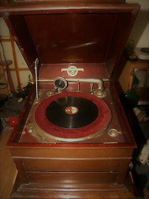 Antique Columbia Grafonola Viva Tonal Gramophone Wind Up Record Player Model 120