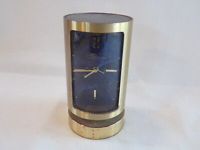 Vintage Swiss Made Brass Cylindrical Clock