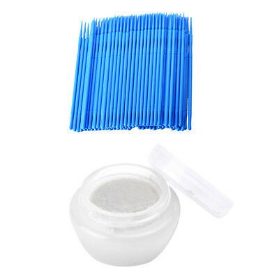 Eyelash Extensions Gentle Glue/Adhesive Remover Cream + 100 Micro Swab Brush