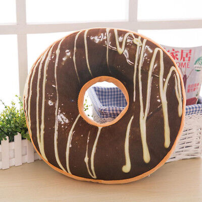 Soft Plush Pillow Stuffed Seat Pad Sweet Donut Foods Cushion Cover Case Toys A