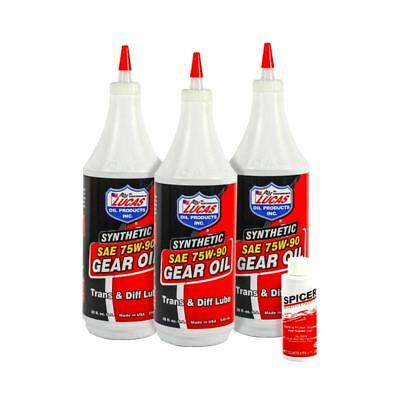 Lucas Synthetic Gear Trans Oil & Friction Modifier 75W-90 3 Qts + Posi Additive