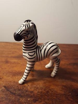 Vintage Ceramic Zebra Figurine Made In Germany