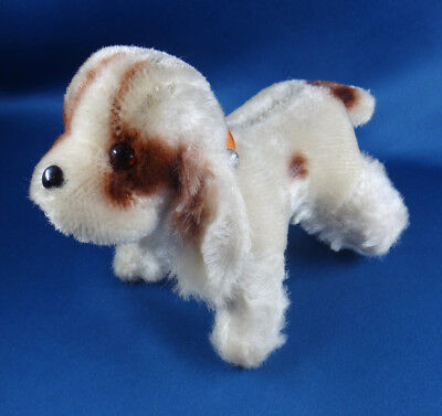 vintage 1950s COCKER SPANIEL DOG brown spotted COMMONWEALTH excelsior toy JAPAN