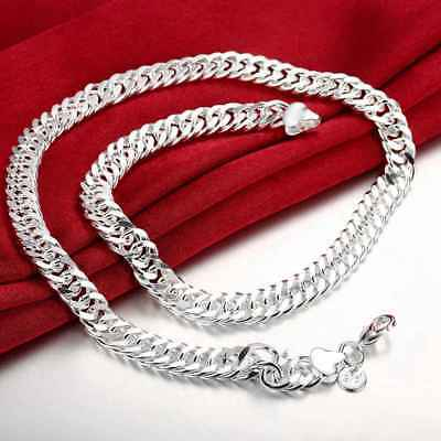 Fashion 925 Silver plated Jewelry 10MM 20inch Chain Men Women Necklace N039