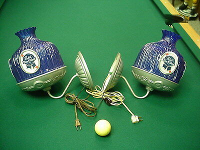 Pabst Blue Ribbon Sconce Pair Vintage
