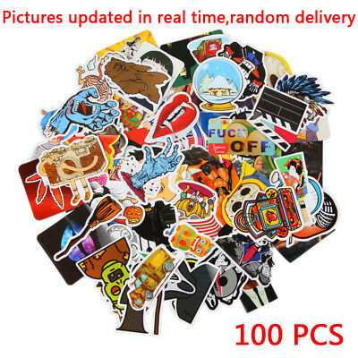 300/400pcs Random Guitar Travel Case Stickers Pack Decal Sticker Skateboard