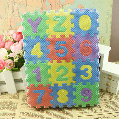 36pcs 4.8*4.8cm Baby Alphanumeric Educational Letter Number Puzzle Blocks Toy