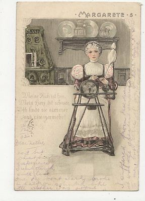 Margarete 1902 Embossed Chromo Litho Postcard Europe 011a