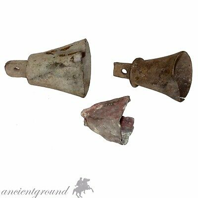 Group Of 3 Large Bronze Byzantine And Medieval Bells