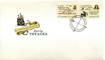 2017 Christmas Island Early Voyages (Gummed Stamps) FDC - Christmas Island PMK