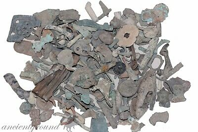 Huge Lot Of 700 Grams Ancient & Medieval Bronze Appliques , Fragments