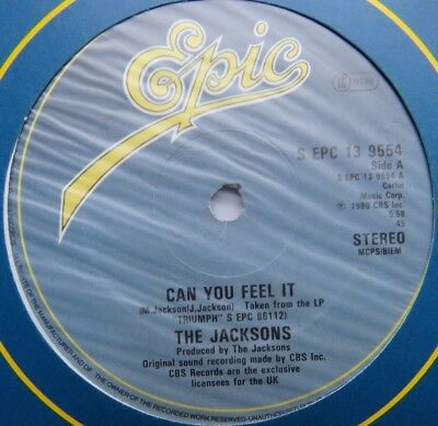 """JACKSONS - Can You Feel It - Excellent Condition 12"""" Single Epic EPC 13-9554"""