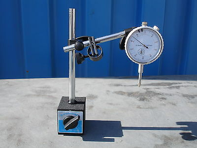 Magnetic Base With Fine Adjustment & 0-10mm Dial Indicator 60kgs Force