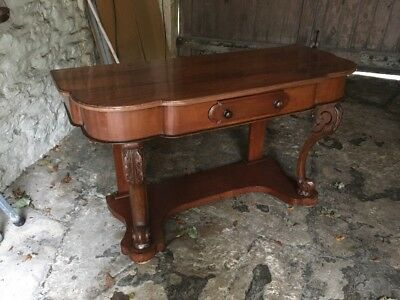 Victorian Mahogany Washstand Side Writing Or Hall Table Desk