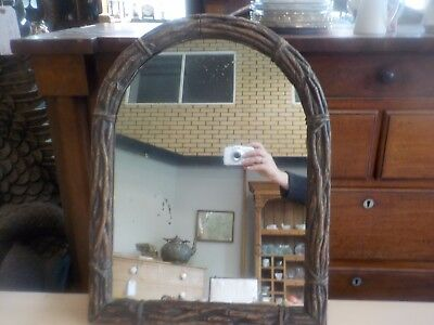 Antique Rustic Caved Vine Wall Mounted  Mirror French?