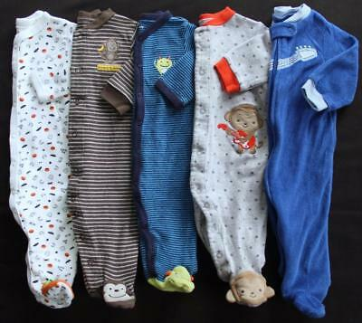 Baby Boy Carter's 6 Months Footed Sleeper Pajama Clothes Lot Free Shipping