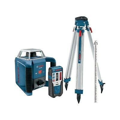 Bosch GRL400HCK IP65 Exterior Self-Leveling Rotary Laser Complete Kit & Receiver
