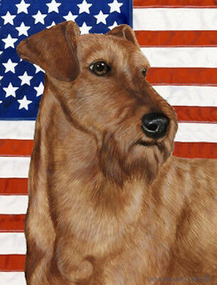 Large Indoor/Outdoor Patriotic II Flag - Irish Terrier 32220