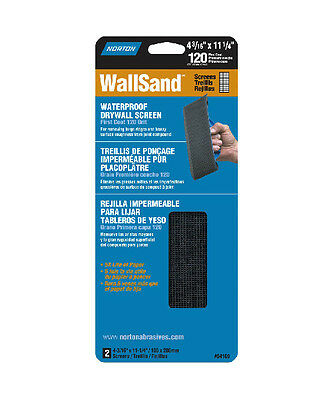 "Norton 21763 WallSand Drywall Sanding Screen, 4-3/16"" x 11-1/4"""