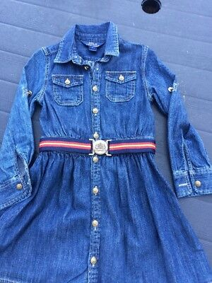 Ralph Lauren Girls Denim Dress With Belt Age 5
