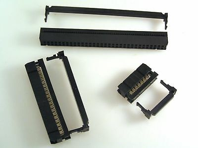 Ribbon Cable DIL IDC Header Socket/Strain Relief 2.54mm Non Pol 10 -64 Way EB49X