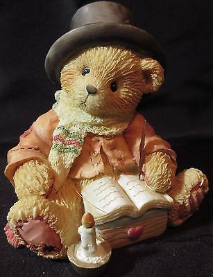 """Cherished Teddies Bear Cratchit """"Very Merry Christmas To You Mr Scrooge"""" 617296"""