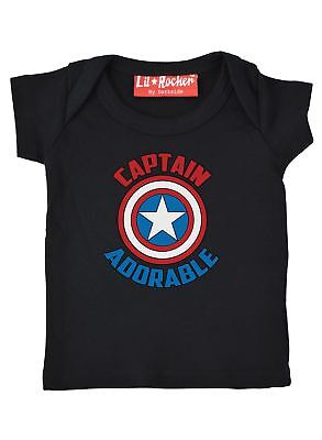 Captain Adorable Funny Comic Slogan Baby T Shirt Gift Present